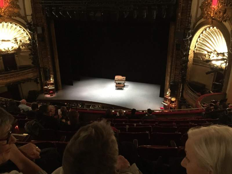 Seating view for Palace Theatre (Broadway) Section Mezz Row J Seat 128
