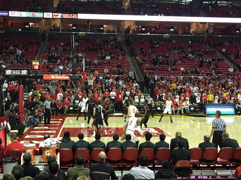 Seating view for Xfinity Center (Maryland) Section 126 Row J Seat 10