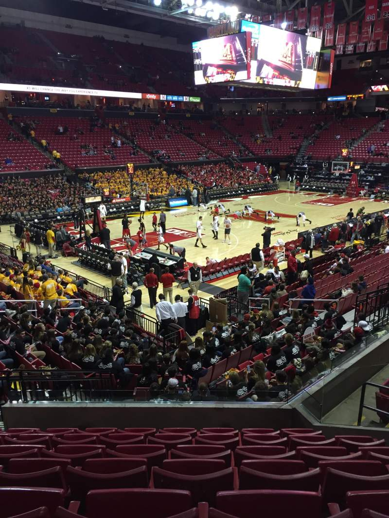 Seating view for Xfinity Center (Maryland) Section 123 Row 7 Seat 5