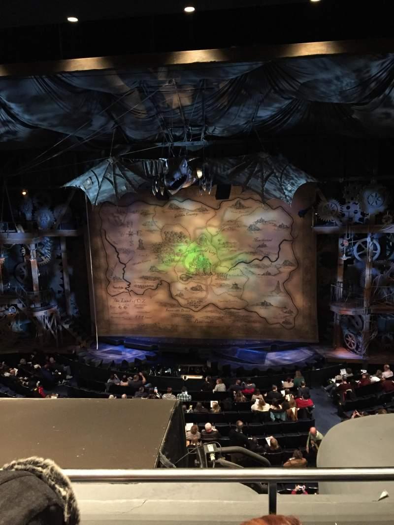 Gershwin Theatre, section: Front Mezzanine C, row: B, seat: 116