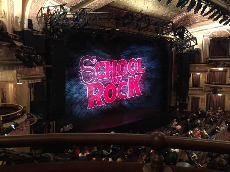 Winter Garden Theatre Section Mez Row A Seat 7 School Of Rock Shared Anonymously