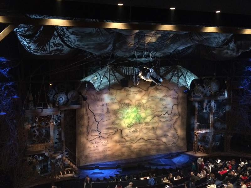 Seating view for Gershwin Theatre Section Front Mezz Row D Seat 9-11