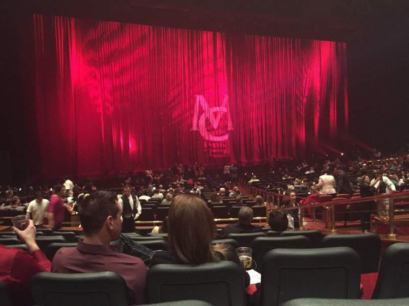 Seating view for The Colosseum At Caesars Palace Section Rear orchestra Row H Seat 15-16
