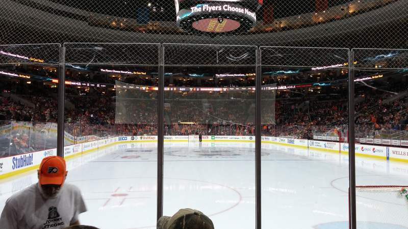 Seating view for Wells Fargo Center Section 118 Row 5 Seat 22