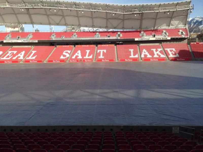 Seating view for Rio Tinto Stadium Section 18 Row P Seat 5