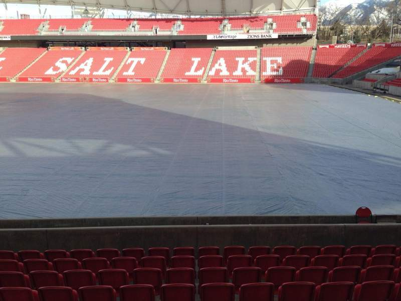 Seating view for Rio Tinto Stadium Section 16 Row p Seat 14