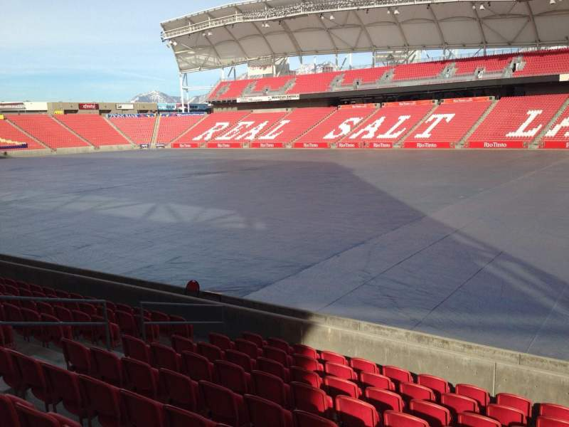 Seating view for Rio Tinto Stadium Section 15 Row p Seat 14