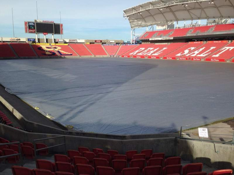Seating view for Rio Tinto Stadium Section 13 Row p Seat 10