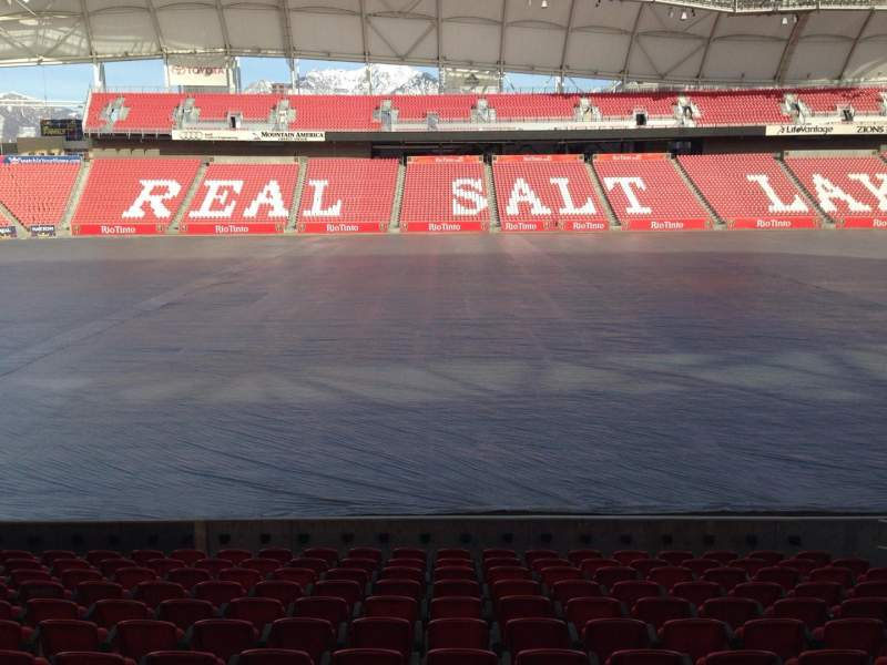Seating view for Rio Tinto Stadium Section 20 Row p Seat 15