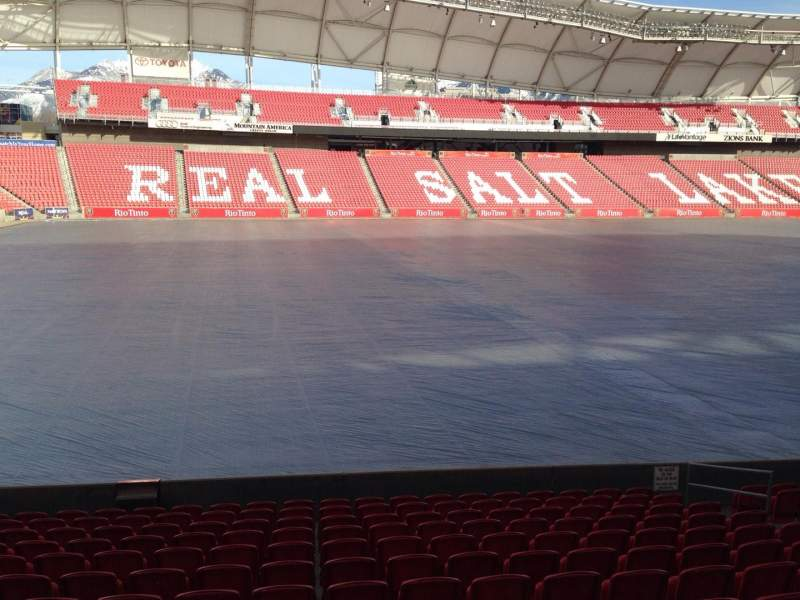 Seating view for Rio Tinto Stadium Section 22 Row p Seat 14