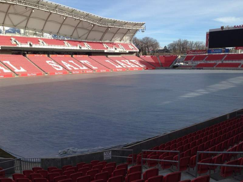 Seating view for Rio Tinto Stadium Section 24 Row p Seat 10