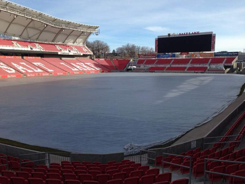Seating view for Rio Tinto Stadium Section 25 Row p Seat 10