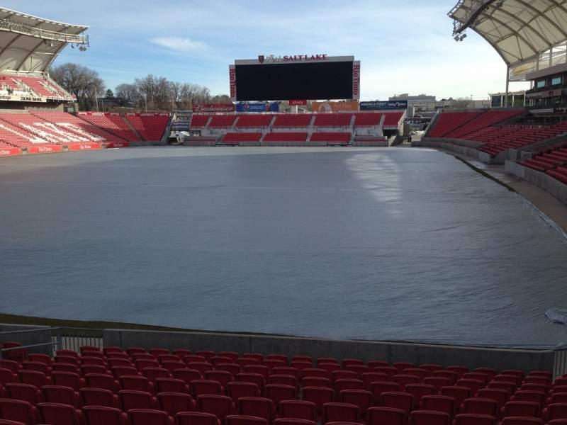 Seating view for Rio Tinto Stadium Section 26 Row p Seat 11