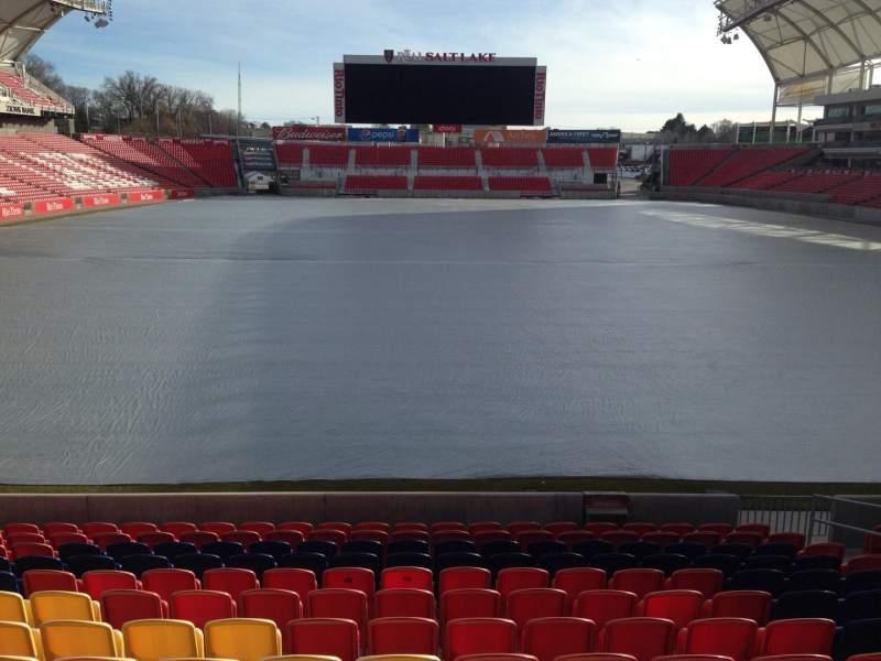 Seating view for Rio Tinto Stadium Section 29 Row 9 Seat 11