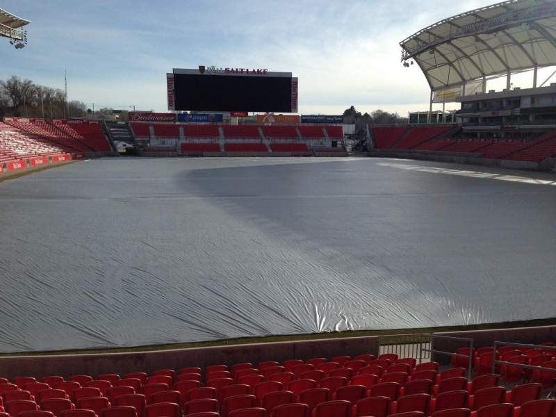 Seating view for Rio Tinto Stadium Section 30 Row p Seat 11