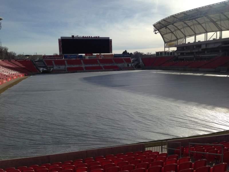 Seating view for Rio Tinto Stadium Section 31 Row p Seat 12