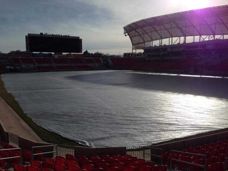 Seating view for Rio Tinto Stadium Section 32 Row p Seat 10