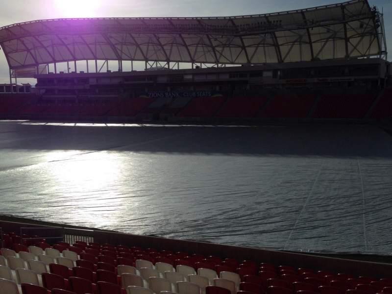 Seating view for Rio Tinto Stadium Section 34 Row p Seat 15