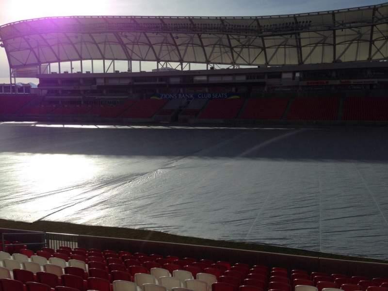 Seating view for Rio Tinto Stadium Section 35 Row p Seat 15
