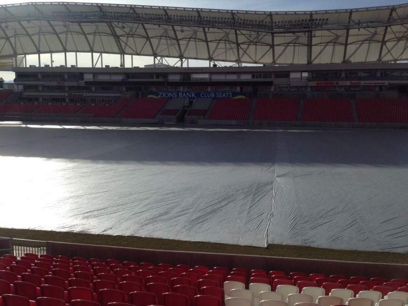 Seating view for Rio Tinto Stadium Section 36 Row p Seat 15