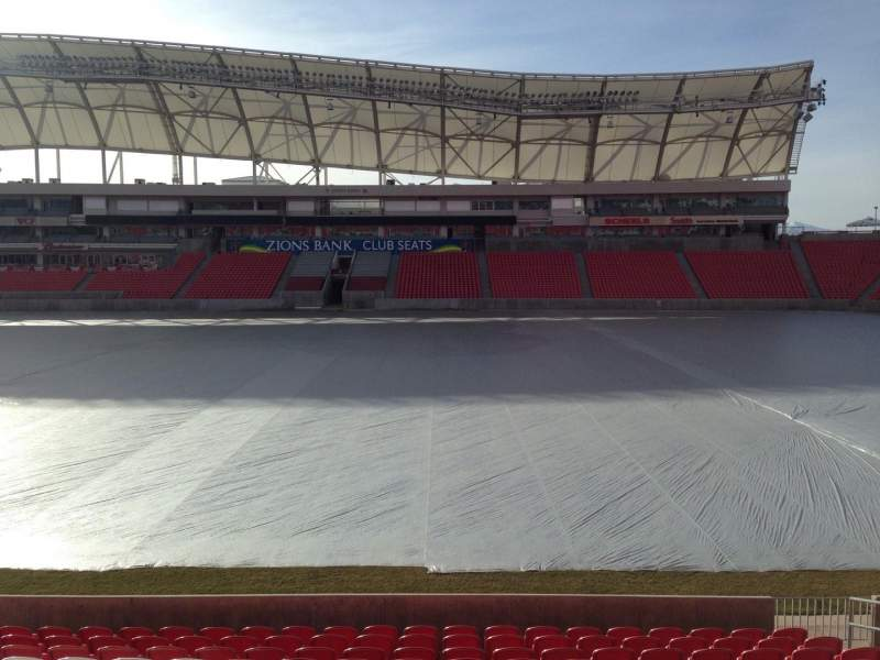Seating view for Rio Tinto Stadium Section 37 Row p Seat 15