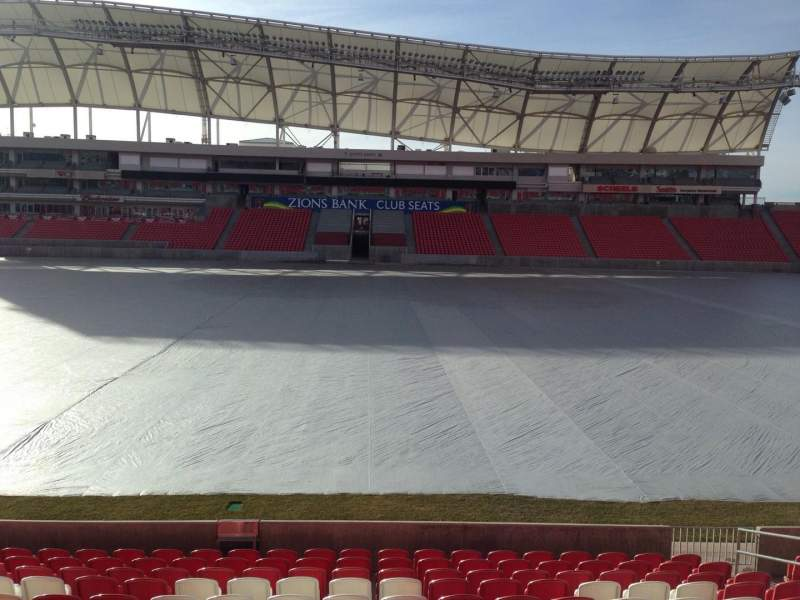 Seating view for Rio Tinto Stadium Section 1 Row p Seat 15
