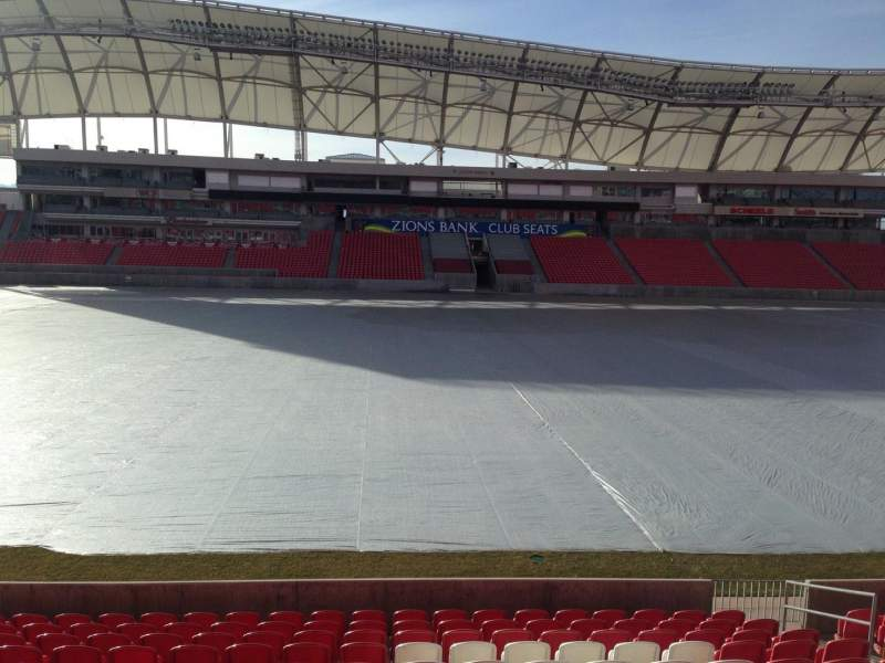 Seating view for Rio Tinto Stadium Section 2 Row p Seat 15