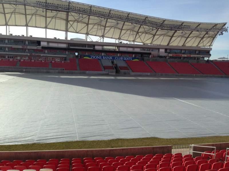 Seating view for Rio Tinto Stadium Section 3 Row p Seat 15