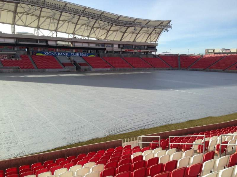 Seating view for Rio Tinto Stadium Section 4 Row p Seat 15