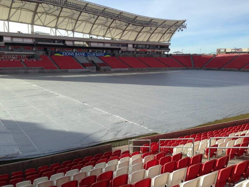 Seating view for Rio Tinto Stadium Section 5 Row p Seat 14