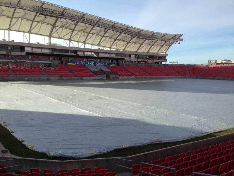Seating view for Rio Tinto Stadium Section 6 Row p Seat 10