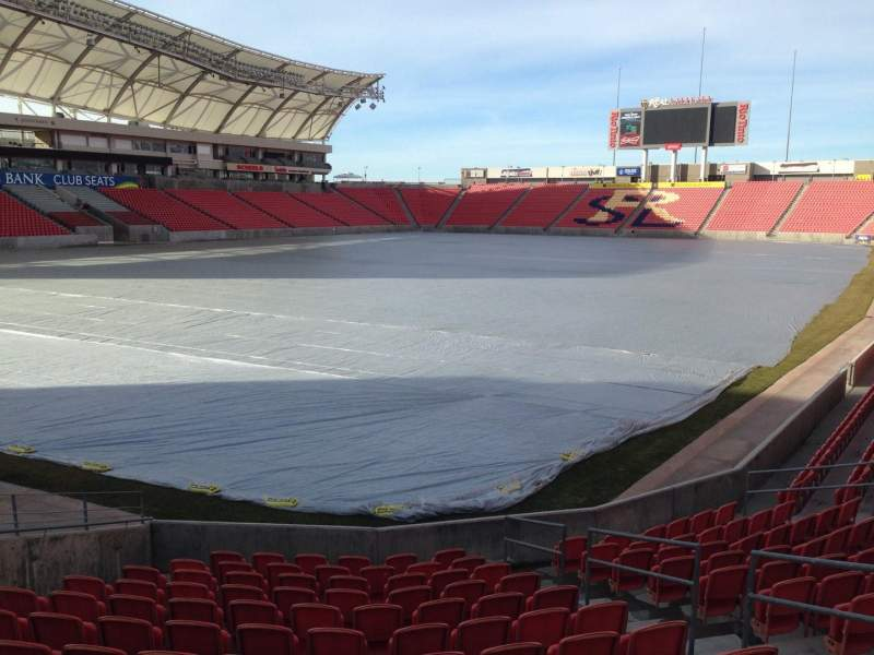 Seating view for Rio Tinto Stadium Section 7 Row p Seat 10