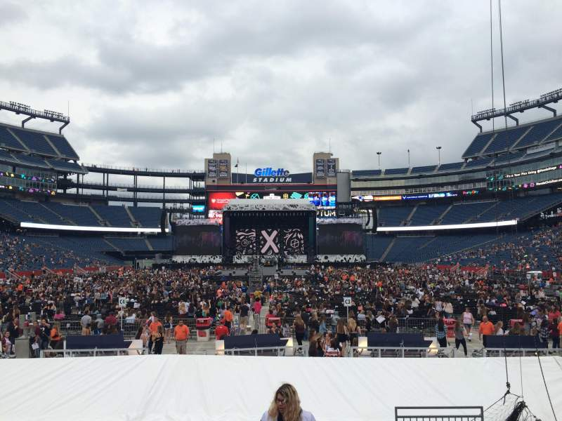 Seating view for Gillette Stadium Section 143 Row 10 Seat 4