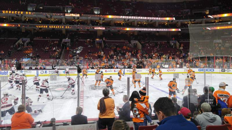 Seating view for Wells Fargo Center Section 113 Row 8 Seat 9