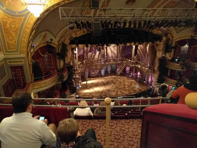 Seating view for Richard Rodgers Theatre Section Rear Mezz Left Row C Seat 13