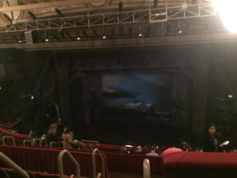 Seating view for Imperial Theatre Section R Mezz 2 Row E Seat 1