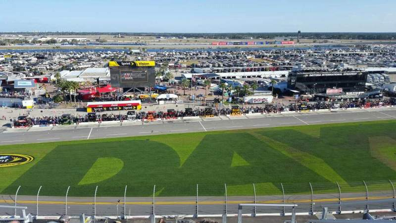 Seating view for Daytona International Speedway Section 443 Row 33 Seat 3