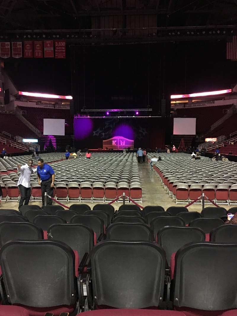 Seating view for Toyota Center Section 113 Row H Seat 11