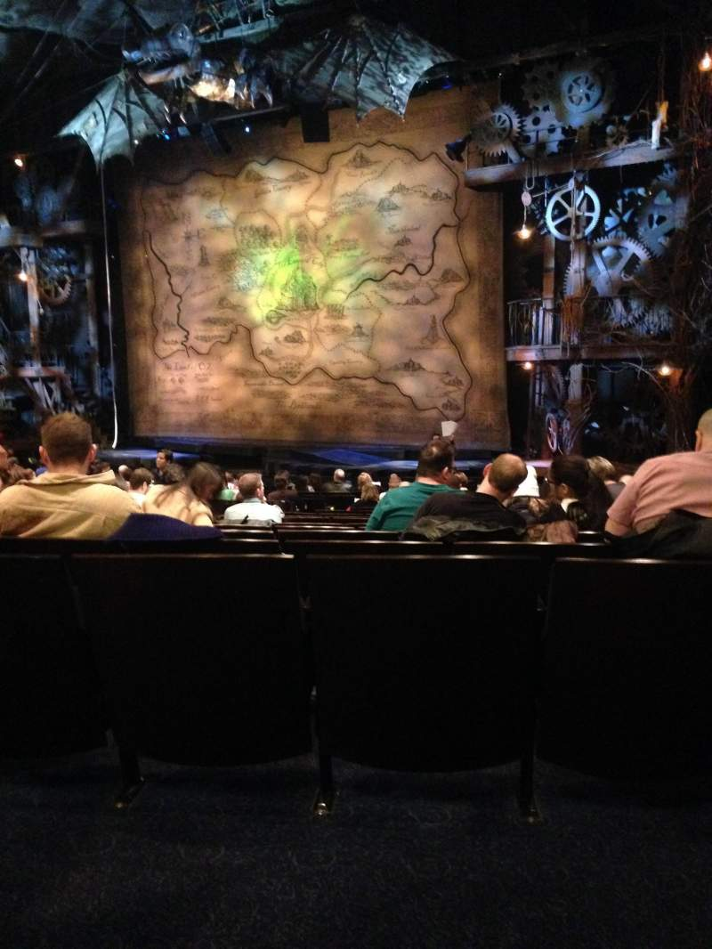 Seating view for Gershwin Theatre Section Orchestra R Row Q Seat 24