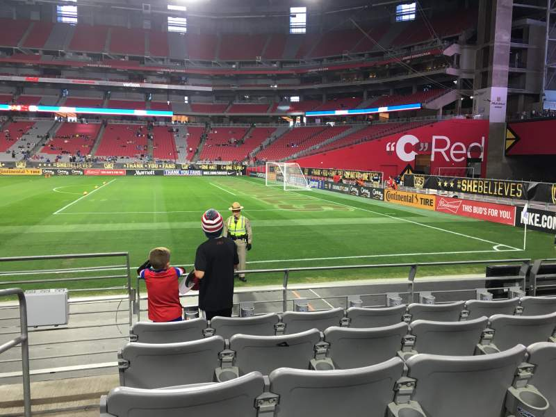 Seating view for University of Phoenix Stadium Section 125 Row 5 Seat 17