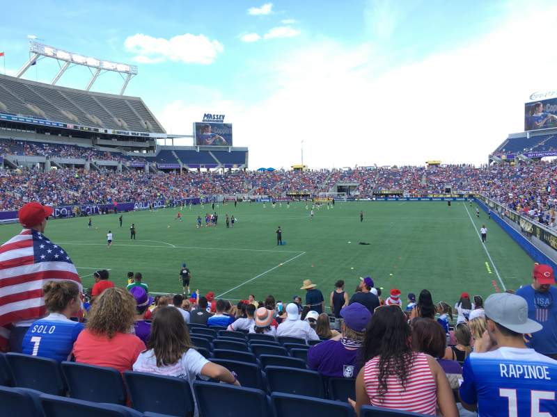 Seating view for Camping World Stadium Section 120 Row 15 Seat 17