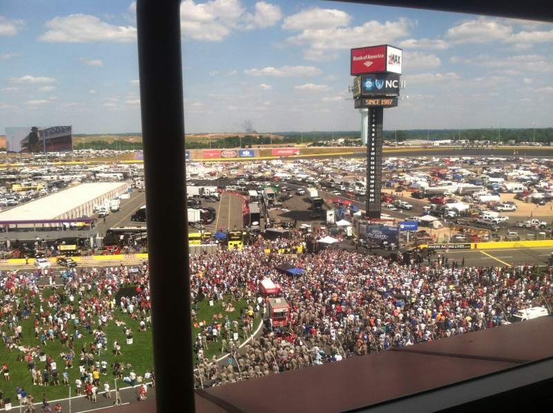 Seating view for Charlotte Motor Speedway Section Suite 140 Row 1 Seat 13