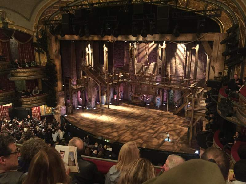 Seating view for Richard Rodgers Theatre Section Front Mezzanine Row D Seat 18