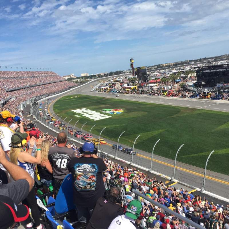 Seating view for Daytona International Speedway Section 364 Row 3 Seat 27