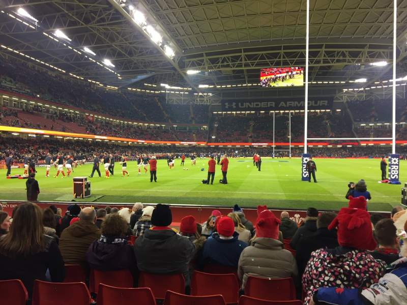 Seating view for Principality Stadium Section L20 Row 11 Seat 12
