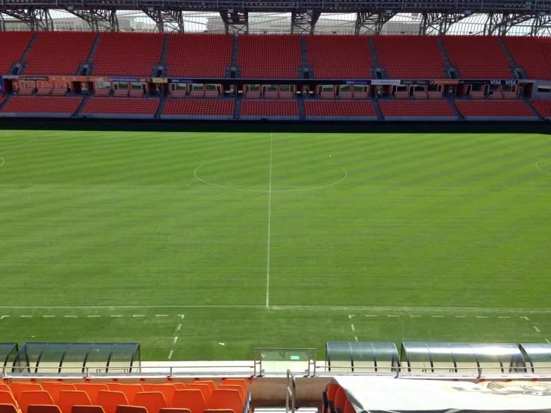 Seating view for BBVA Stadium Section 206B Row B Seat 10