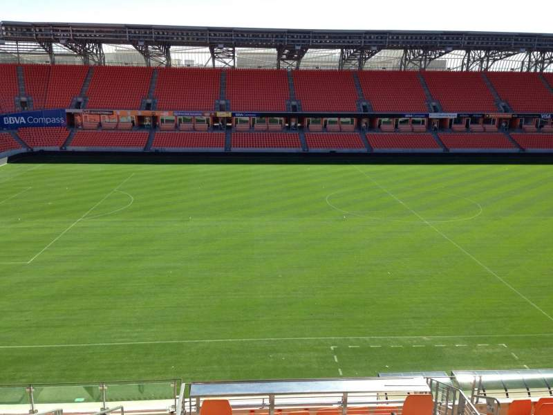 Seating view for BBVA Compass Stadium Section 207 Row B Seat 10