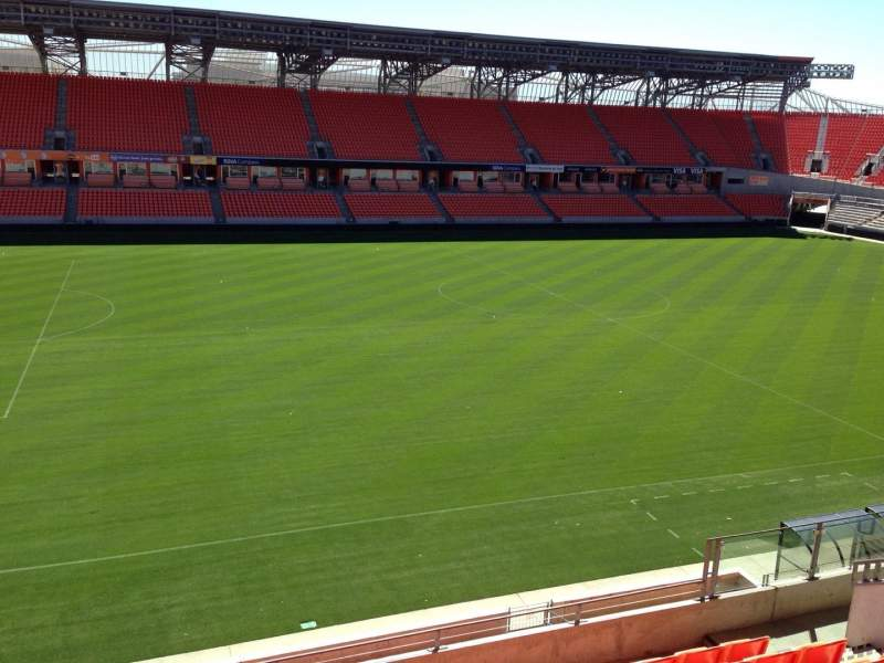 Seating view for BBVA Compass Stadium Section 208 Row H Seat 15