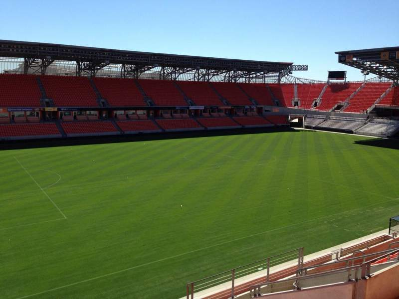 Seating view for BBVA Compass Stadium Section 209 Row H Seat 15