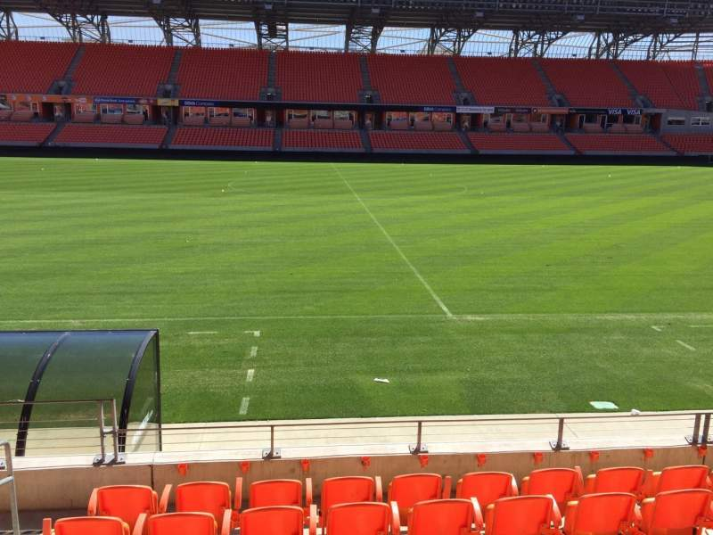 Seating view for BBVA Compass Stadium Section 106 Row H Seat 12